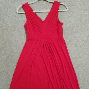 Loft Red Swing Dress